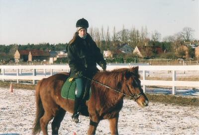 Eldur und ich im Jahr 2002 - noch sehr unterschiedlicher Meinung