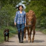 Diana auf Toffifee mit Hund Flo