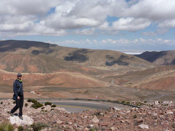Ich auf 4170m Höhe in den argentinischen Anden