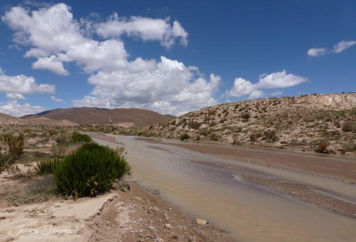 Fluss auf dem Puna Plateau