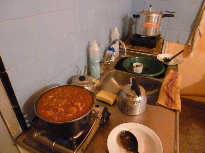 Kochen auf Gaskartuschen
