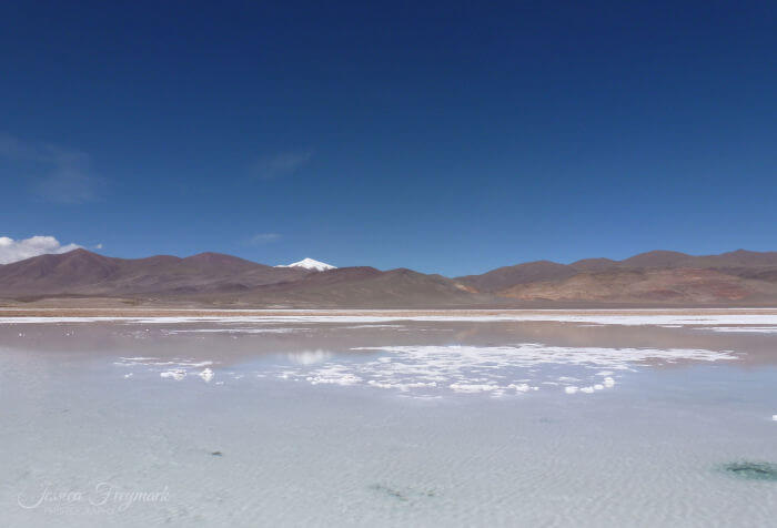 Salzsee mit etwas Wasser