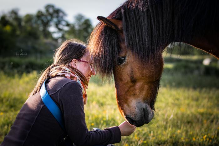 Jessica Freymark mit Pferd