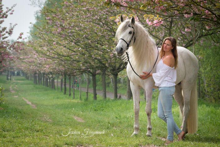 Weiße Bluse zu Jeans mit Schimmel