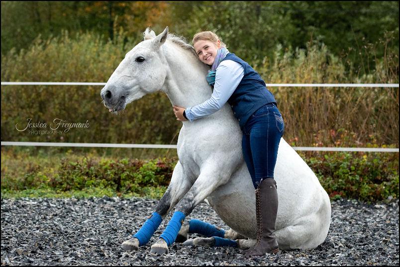 Hero Merkel Sitzendes Pferd