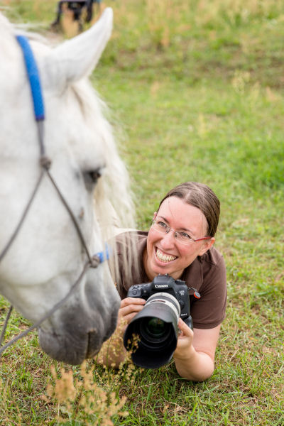 Achtsame Pferdefotografin Jessica Freymark (Foto von Andreas Bender)